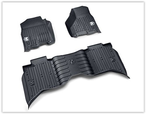 2013-2017 Dodge Ram Crew Cab Black High Wall All Weather Floor Mats OEM Mopar ()