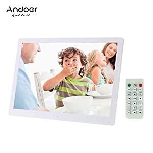 Andoer 15.6 Inch Digital Photo Frame LED 1920 * 1080 High Resolution 1080P Display Photo/MP3/ MP4/ E-book/Clock/Calendar…