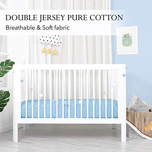 Haorw Baby Spannbettlaken Spannbetttuch F/ür Kinderbetten Weich Atmungsaktiv,130 cm/×70 cm