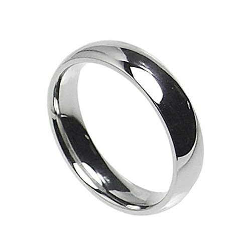 Silverline Jewelry 4mm Stainless Steel Comfort Fit Classic Wedding Band Ring Available in Sizes 5-13
