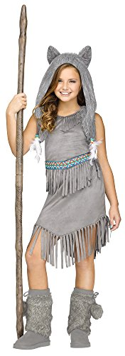 [Wolf Dancer Native American Indian Kids Costume] (Kids Wolf Costumes)