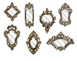 Imax 52977-7 Loletta Victorian Inspired Mirrors-Set of 7, Silver