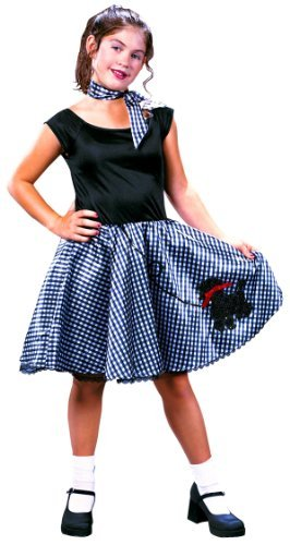 Girls Bobby Soxer 50s Costume - Child Medium]()