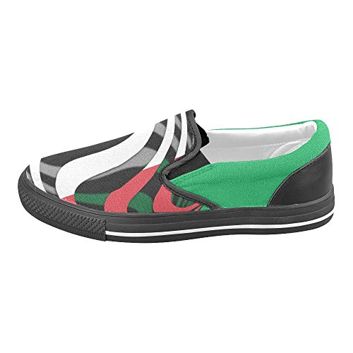 InterestPrint Classic The Flag of Italy Mens Slip-on Canvas Shoes oylgw