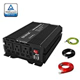 ERAYAK Power Inverter 1000W 12 Volt DC to 110 Volt AC,Car Power Converter with 3 AC Outlets Dual USB Charging Ports, Car Inverter for Home RV Truck Camping