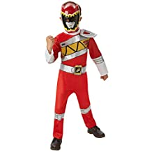 Power Rangers Dino Charge Red Ranger Muscle Costume (5-6 Years) by Rubies