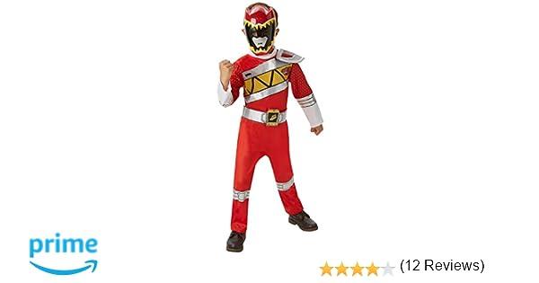 Disfraz oficial del Power Rangers Dino Charge rojo para niños entre 3 y 4 años, talla S: Amazon.es: Juguetes y juegos