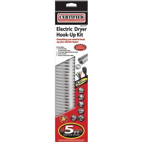 Certified Appliance Accessories Certified Appliance 77007 5 Dryer Duct Kit with 6-Feet Cord