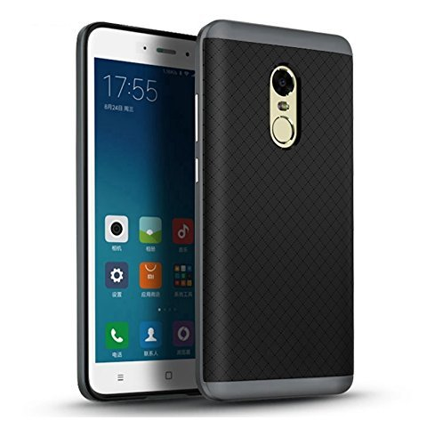 WOW Imagine Luxury Ultra Thin Dual Layer Dotted Bumper Back Case Cover for XIAOMI MI REDMI Note 4   Pitch Black