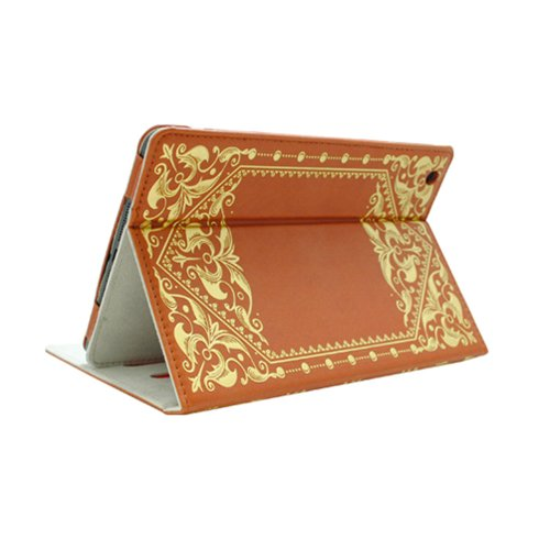 KHOMO ® Brown Book Style Leather Case with Built-in Stand for Apple iPad Mini 7.9 Inch by KHOMO (Image #3)