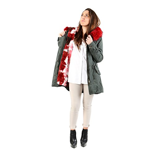AFF - Women Coat Parka with hood and interior with sleeping - AFD321