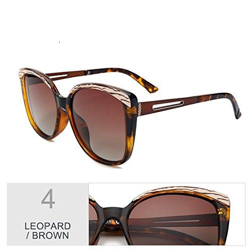 De Sol Plata Butterfly Grande De Brown Negro Classic Leopard Gafas De Mujer Uv400 TIANLIANG04 Gafas Enormes Gafas Unas Lujo Bastidor Polarizadas De Sol qtnWOR