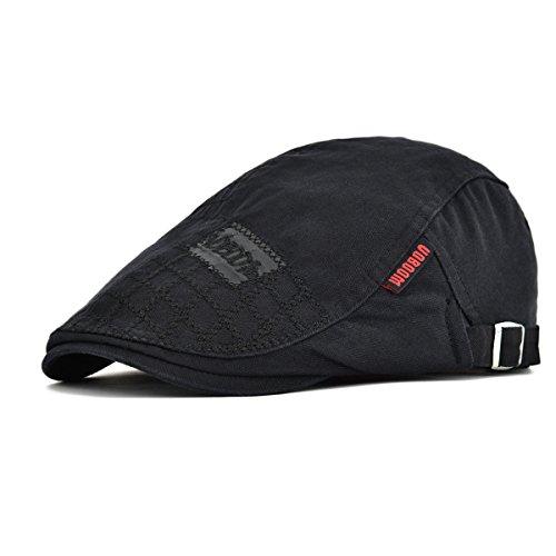 Ivy Cabbie Cap Hat - VOBOOM Men Cotton Adjustable Newsboy Beret
