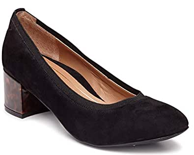 Vionic Women's Olympia Natalie Pumps - Ladies Heels with Concealed Orthotic Arch Support Black Size: 6
