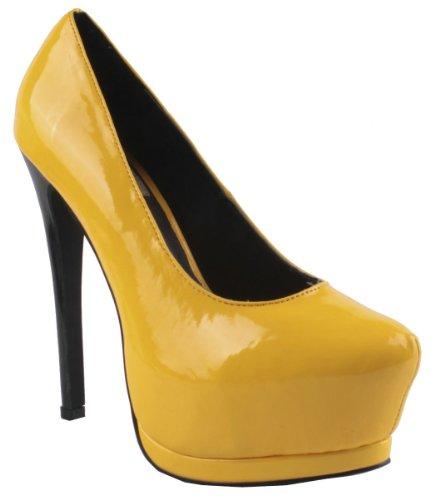Fourever Funky - Sandalias de vestir de Charol para mujer amarillo