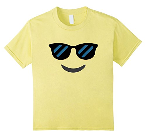 Group Girls Costumes (Kids Sunglasses Smile Face Emoji tee shirt group couple costume 10)