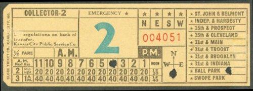 (Kansas City Public Service Collector Emergency transfer)