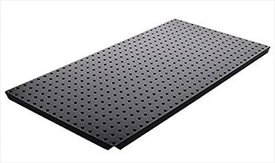 Alligator Board ALGBRD16x32PTD-BLK Black Powder Coated Metal Pegboard Panels with Flange - Pack of 2