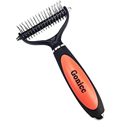 Gonicc Professional Dematting Comb with 2 Sided For Dogs and Cats, 17+9 Precision Teeth, Ergonomically designed, Lifetime Satisfaction Guarantee
