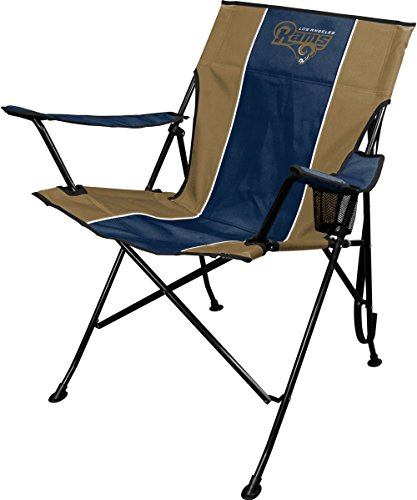 Jarden Sports Licensing NFL Los Angeles Rams TLG8 Folding Chair with Carrying Case, 250 lb, Blue