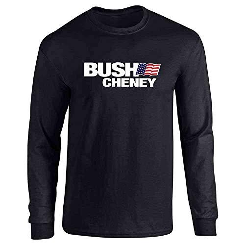 - Pop Threads George W Bush Dick Cheney President Campaign Retro Black L Long Sleeve T-Shirt