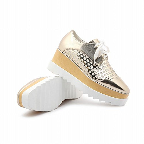 Latasa Dames Lace-up Platform Wedges Schoenen Goud