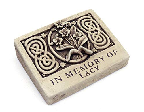 Carruth Studios Two Lines Engraved Wild Orchid Memorial Plaque 9.25 Inches Wide