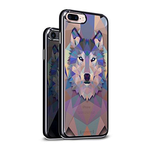 DIAMOND WOLF  | Luxendary Chrome Series designer case for iPhone 8/7 Plus in Titanium Black trim