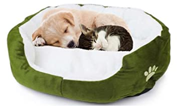 Caseta para perro y gato de interior blanda de polar - Ergonómico Y Lavable - Tamaño (50 x 40 x 15): Amazon.es: Productos para mascotas