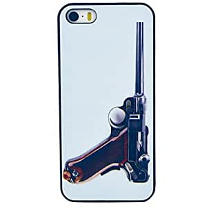 TOPAA Pistol Pattern Hard Plastic Case for iPhone 5/ 5S