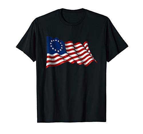 America Betsy Ross Flag 1776 Vintage Distressed T-Shirt