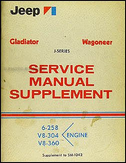 1969-1970 Jeep Gladiator & Wagoneer Repair Shop Manual Original