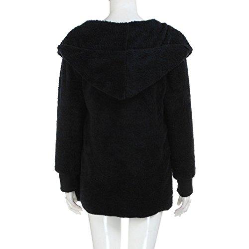 Noir Femmes Outwear Sweats Manteau Cardigan Veste Long Feitong À Parka fwnZWHW4q