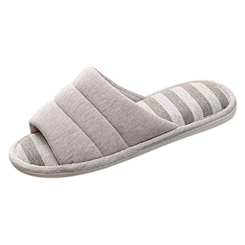 4 R Cotton No Indoor Slip Slippers Slippers FREAHAP Toe House Open vSwBF