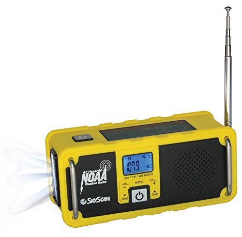 NOAA Weather Radio | AM/FM Weather Radio | Solar Power Hand-Operated Generator