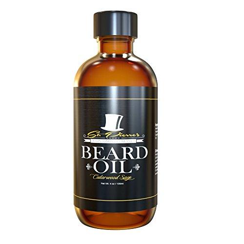 Best Manly Beard Oil & Conditioner for Men - 4oz - Cedarwood Sage (Sage Cedarwood)