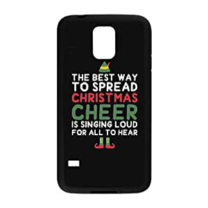 FLYBAI Love Arrow Best Way To Christmas Cheer Ninny Muggins Phone Case For Samsung Galaxy S5 i9600 [Pattern-2]