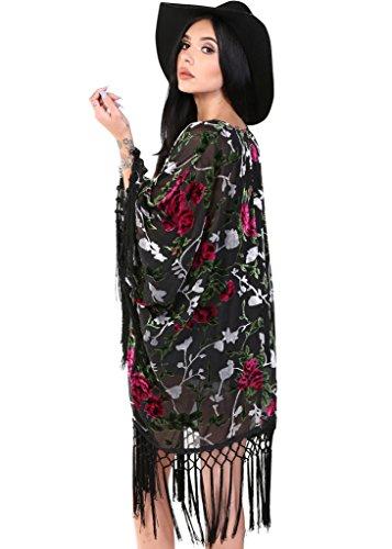 Burnout Velvet Kimono - 1