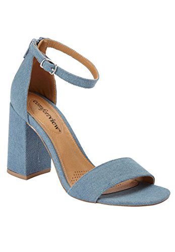 Comfortview Kvinnor Breda Belle Fabric Sling Denim Chambray
