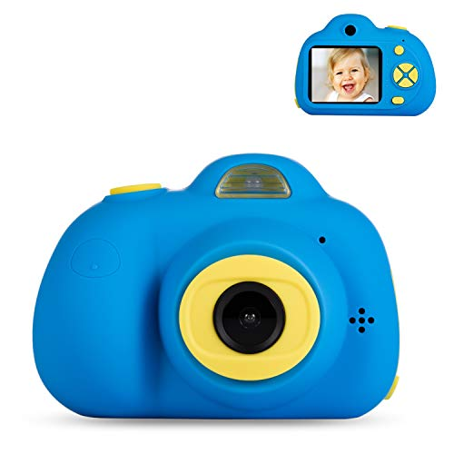 Deeteck Kids Video Camera for Girls Boys, 2 Inch Mini Digital Camera,Shockproof Children Camcorders, Toys for 5-9 Year Old Boys Birthday Gifts with 16GB SD Card(Blue) (Best Camera For 5 Year Old)