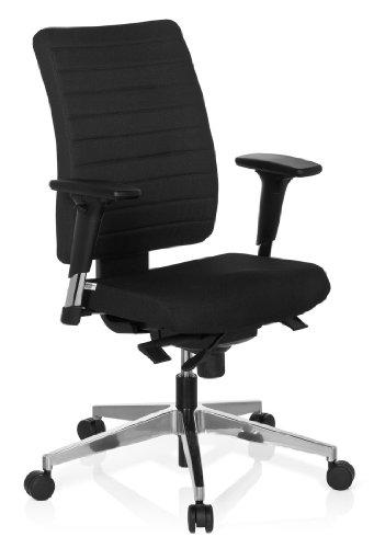 HJH Office 608814 Bürostuhl, Drehstuhl Pro-tec 350 Stoff, schwarz