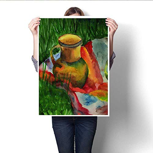 Canvas Painting Sticker Crock with Drapery on The Grass Print On Canvas for Wall Decor 20