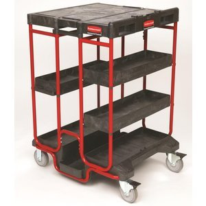 Ladder Cart - Rubbermaid Commercial Products FG9T5700BLA Ladder Steel Service Cart (4 Shelves, 500-Pound Load Capacity, 42-Inches, 31-1/2-Inches x 27-Inches, Black)
