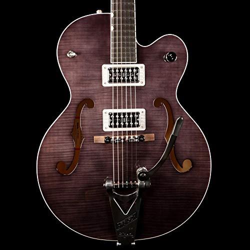 Gretsch Guitars G6120SH Brian Setzer Hot Rod Flame Maple Body Semi-Hollow Electric Guitar 2-Tone Tuxedo Black