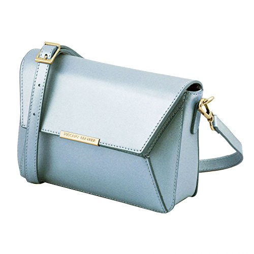 Tuscany Bag Leather Sac Main Cuir À Metallic Bleu Céleste Tl Rose En OqURrO