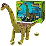 Boneco Dinossauro Diplodocus Eletrônico Bota Ovo Anda Som luz