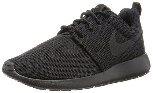 Nike Womens Roshe One running shoe Black/Black/Dark Grey 8