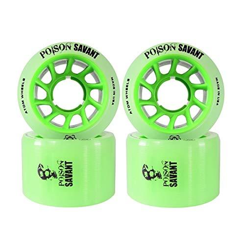 Atom Poison Savant Skate Wheels Green Set of 4 by Atom Skates