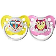 Ulubulu Lots of Love Pacifiers - Hearts & Owls - 2 pk - 00