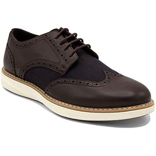 Nautica Men's Wingdeck Oxford Shoe Fashion Sneaker-Brown/Brown-8 (Jordan Shoes Latest)